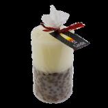 Свеча столбик 6х8см Белая аромат кофе