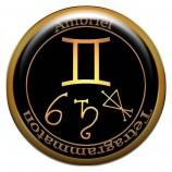 Талисман-наклейка объемная №171 Ангел Близнецов Амбриель, 24 мм