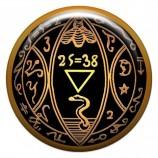 Талисман-наклейка объемная №2 Пентакль, дающий контроль над денежными потоками, 24 мм