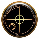 Талисман-наклейка объемная №25 Каббалистический талисман неприступности, 24 мм