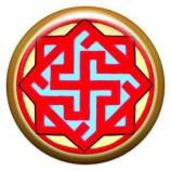 Талисман-наклейка  славянская объемная №67 Валькирия