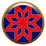 Талисман-наклейка  славянская объемная №74 Звезда Алатырь