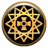 Талисман-наклейка объемная №76 Звезда Эрцгаммы, 24 мм