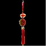 Амулет-Подвеска 2Дракона+5Летучих мышей 34см красная