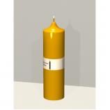 Свеча колонна 14см Золотая