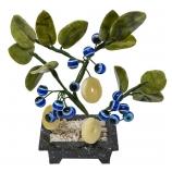 Дерево оберег от сглаза 3 монеты+18 камней 16х18х8см камень, стекло