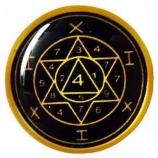 Талисман-наклейка объемная №56 Космический талисман Здоровья